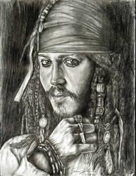 Darker Captian Jack Sparrow by ladyshawn