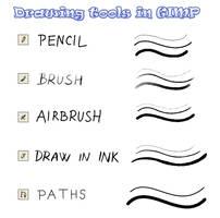 Drawing tools in GIMP by pralinkova-princezna