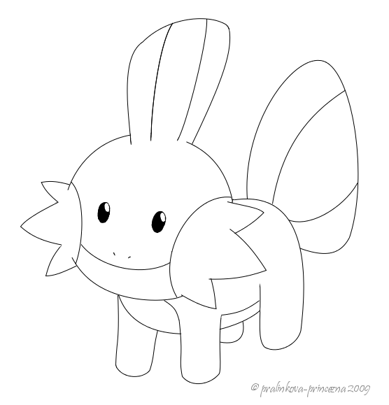 mudkip coloring pages - photo#17