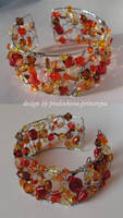 Autumn mosaic bracelet