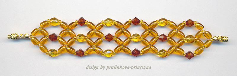 Orange sparkly bracelet