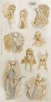 Elves - sketches II