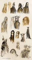 Tolkien elves - sketches III