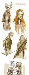 The Hobbit II - elves by ElisEiZ