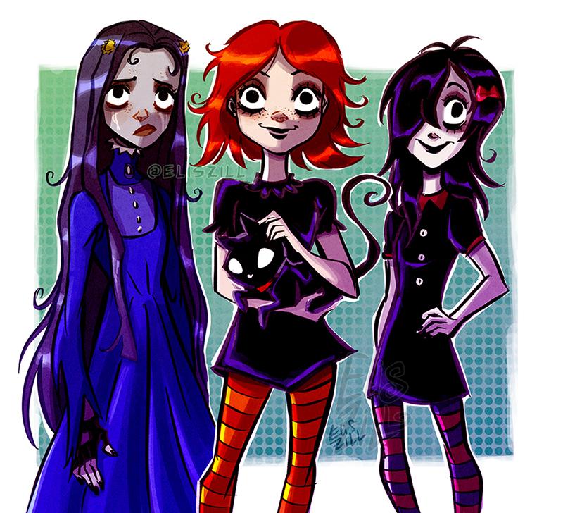 Ruby Gloom Future Babbies: Miserys Twins by r0se-demon on