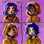 Yellow Raincoat characters