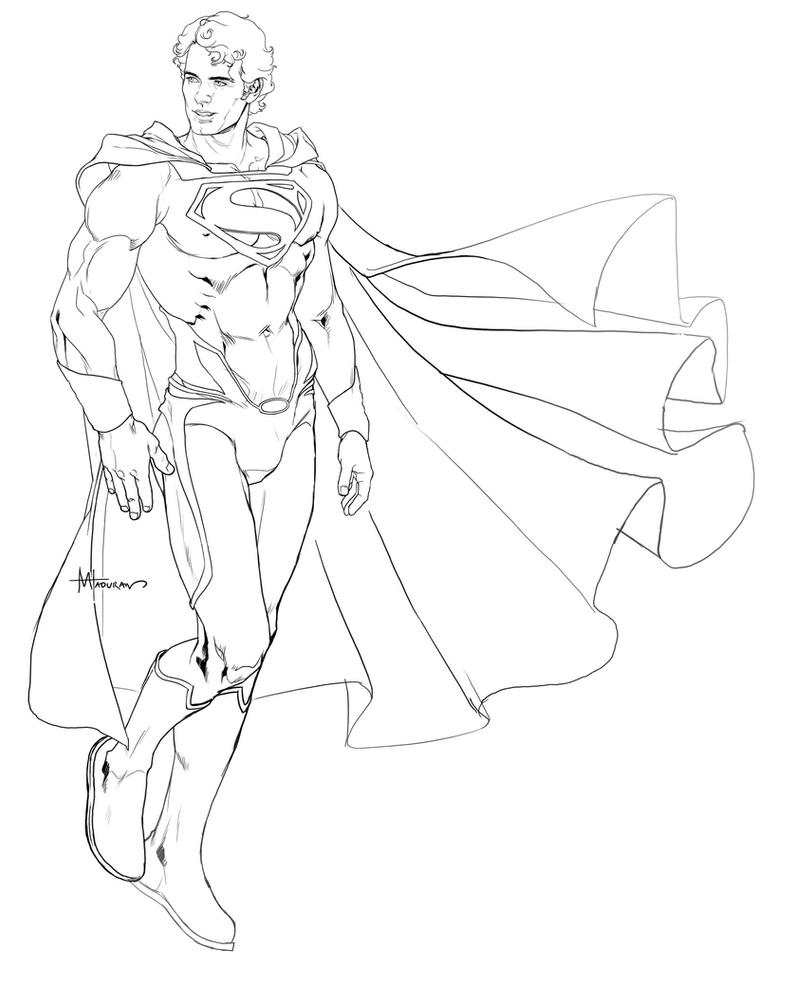Man of steel fanart by markovah on deviantart for Man of steel coloring pages