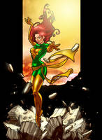 Jean Grey as the Phoenix by Markovah