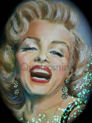 'Marilyn' Pastel drawing by Quatromini