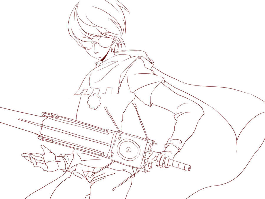 The Knight Of Time__dave Strider(without Coloring) By