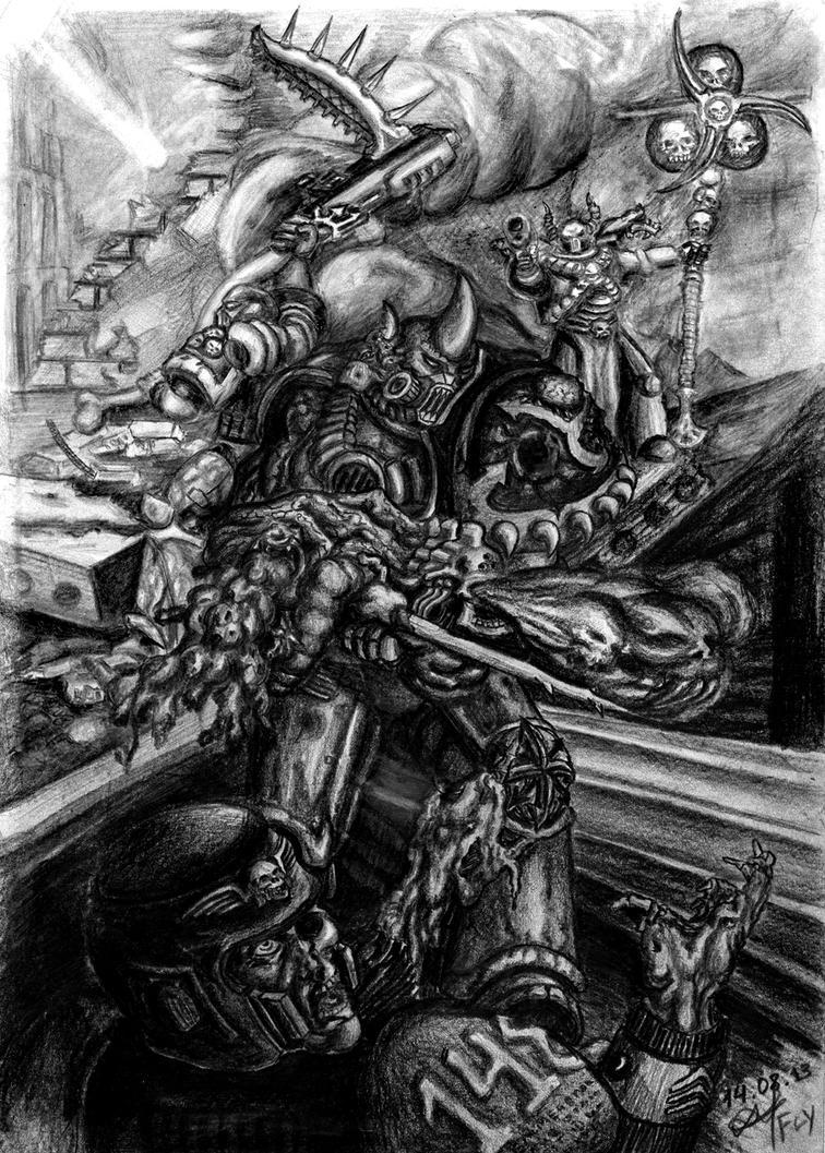 warhammer 40000 Death Guard by MrFlyX