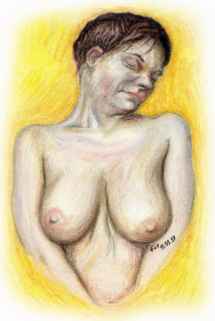 Pastel Girl Portrait by MrFlyX