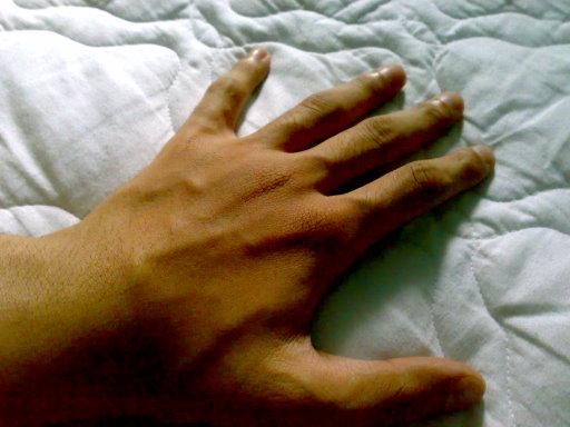 my hand...