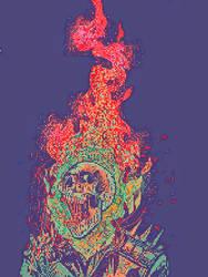 Mind Overload (Ghost Rider Pixel Art) by JPhilSi