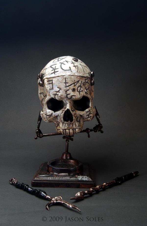Necromancer sculpture