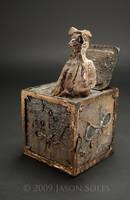 Owl Box sculpture by MrSoles