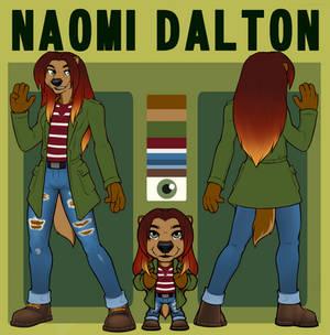 Naomi Dalton -- Reference Sheet (Basic + Chibi)