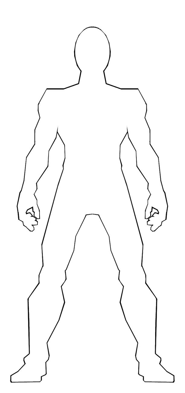 Anime Male Body Outline Sketch Coloring Page