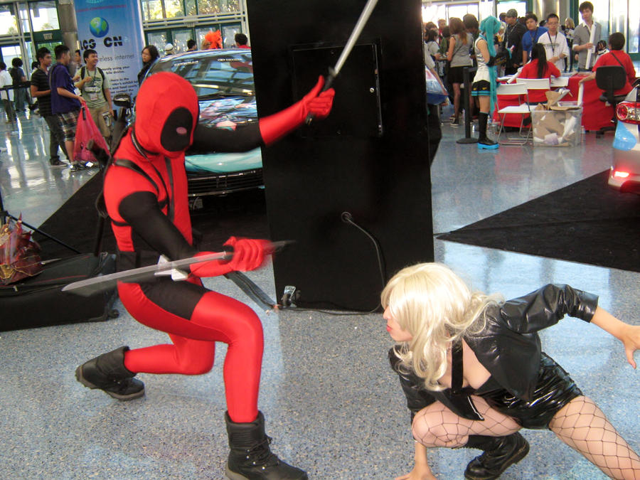 Black Canary VS Dead Pool by ZexionConvertedSaix