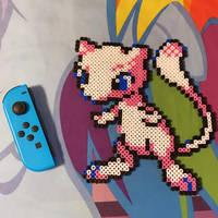 Retro Mew from Pokemon in Bead Sprites (On Sale!)