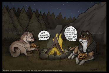 Campfire Tales by RuneStoneArt