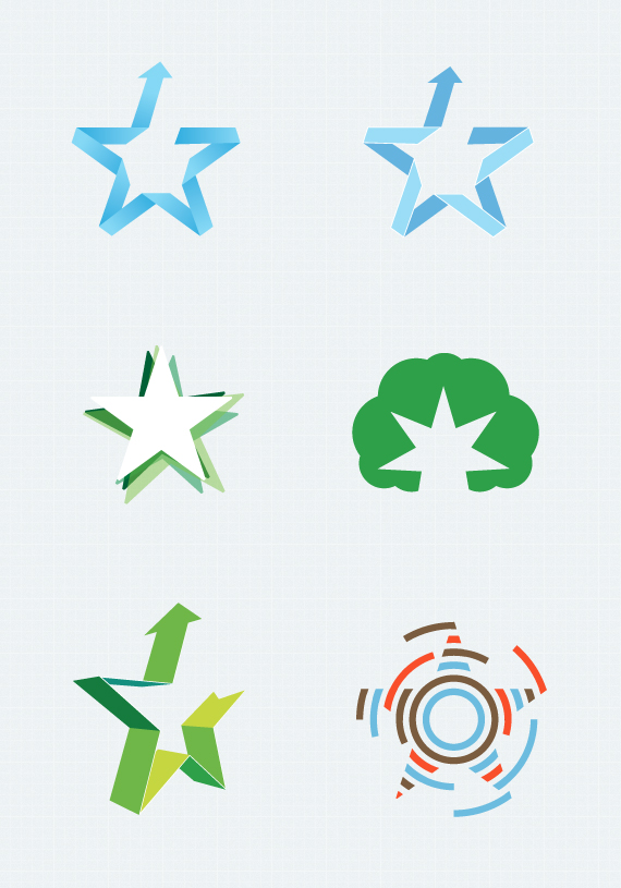 Free Vector Star Shapes by MrBost