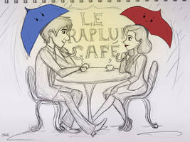 Le Parapluie Cafe by Willowwolf23