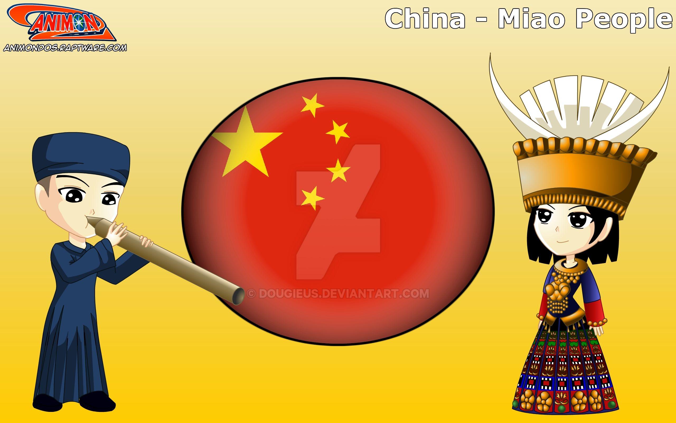 Chibi Miao People, China - Animondos by Dougieus on DeviantArt Miao People Art