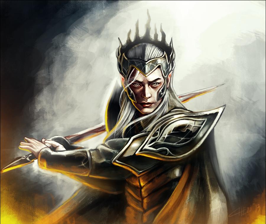 Elven King II by nechnechmo
