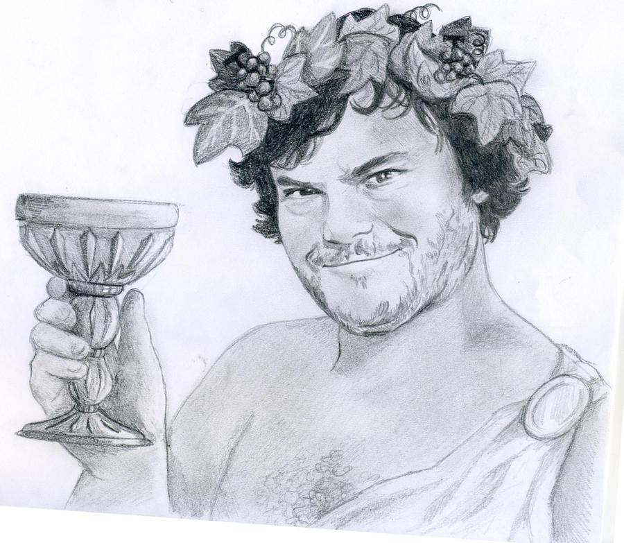 Dionysus by DaughterGothel on DeviantArt  Dionysus Drawing