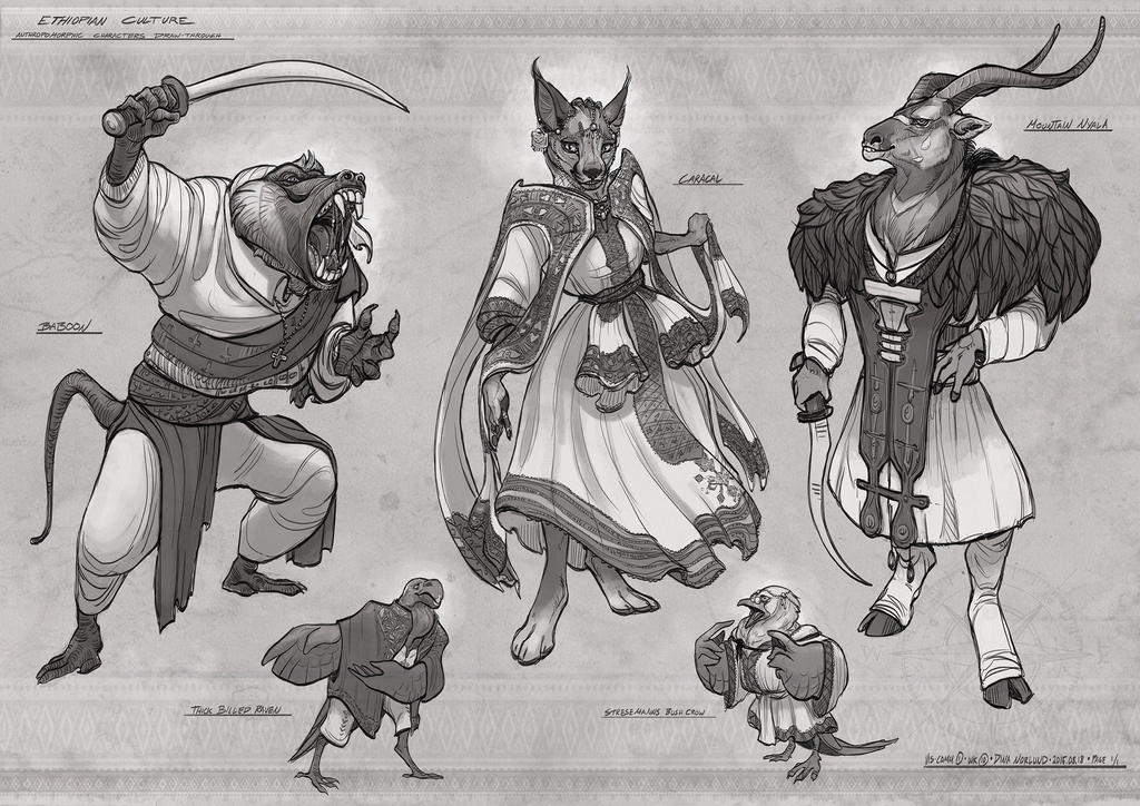 Character Design Presentation : Anthro character designs by coalbones on deviantart