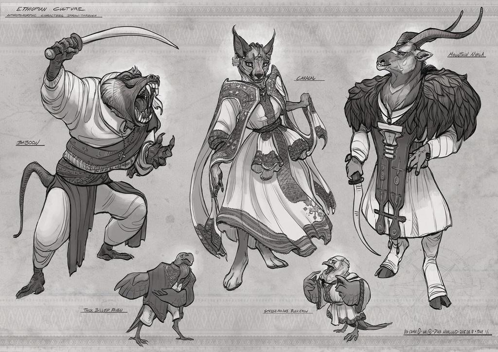 Anthro Character Designs by Coalbones