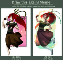 Draw This Again: Ruby #1 (With speedpaint video) by Dina-Norlund
