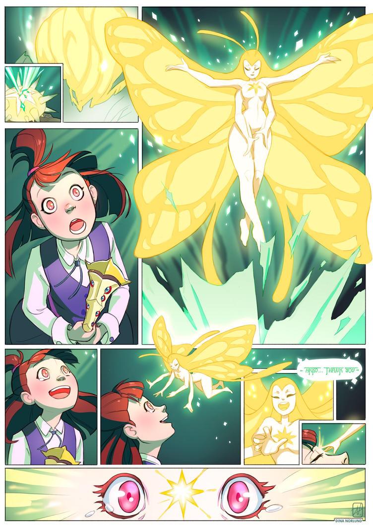 Akko and the Butterflies - Fan Art - by Coalbones