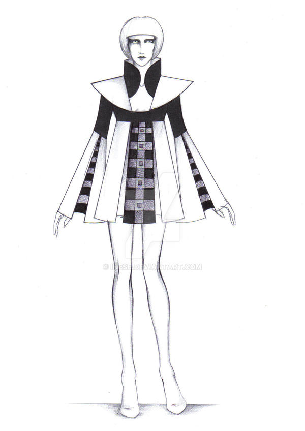Bauhaus fashion sketch 9 by Inese