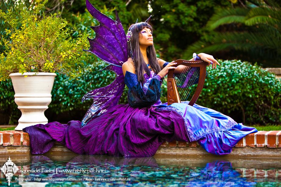 The Indigo Masquerade Fairy by Lillyxandra