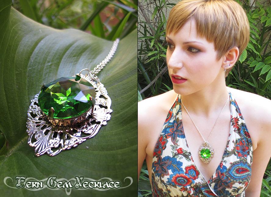 Fern Gem Necklace by Lillyxandra