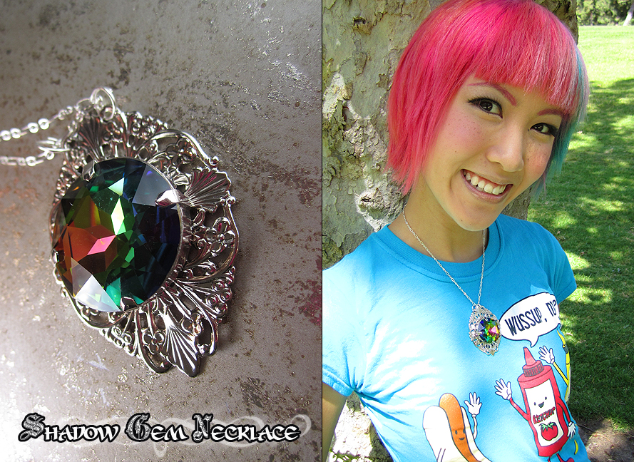 Shadow Gem Necklace by Lillyxandra