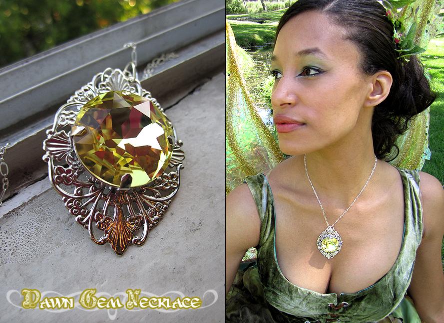 Dawn Gem Necklace by Lillyxandra
