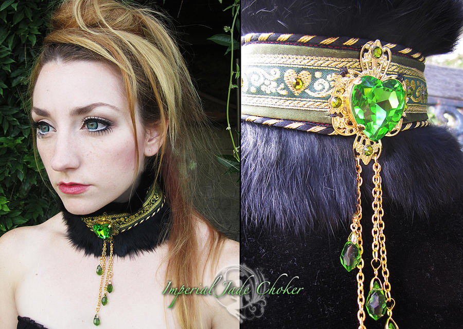 Imperial Jade Choker by Lillyxandra