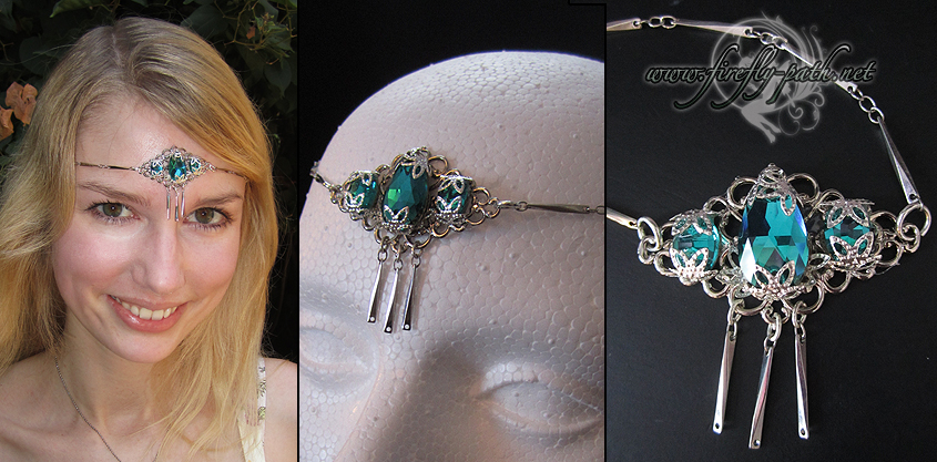Teal Gem Circlet by Lillyxandra