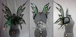 Green LED fairy wings by Firefly-Path
