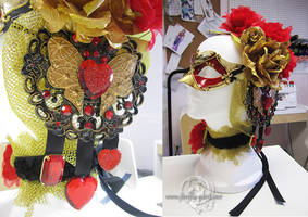 Valentine mask and hair accessories by Firefly-Path