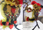 Valentine mask and hair accessories