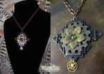 Steampunk Flower Necklace