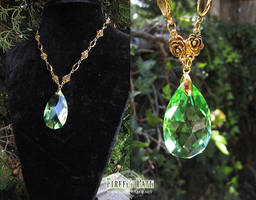 Ivy Droplet Necklace by Firefly-Path
