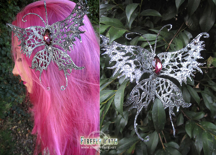 Silver Butterfly Hair Clip by Lillyxandra