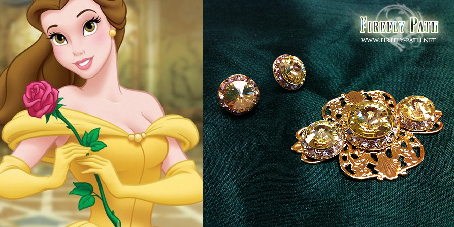 Belle's Earrings and Broach by Lillyxandra