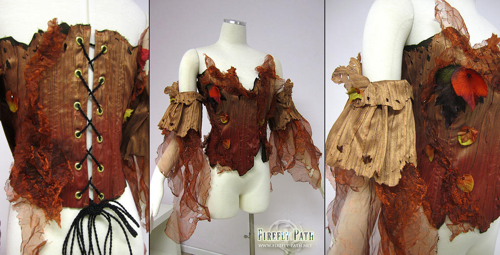 Forest Corset and Sleeves by Lillyxandra