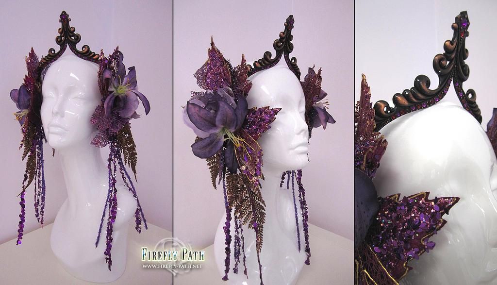 Glittering Amethyst Headdress by Lillyxandra